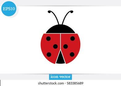 ladybird icon vector illustration.