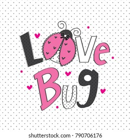 ladybug cartoon vector illustration