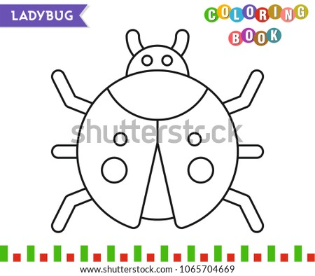 Ladybug Coloring Book Page Kids Line Stock Vector (Royalty Free ...