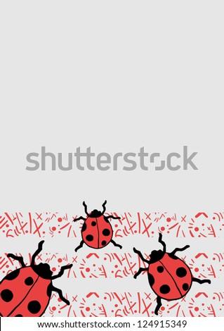 Ladybug Frame Cover Stock Vector 124915349 - Shutterstock