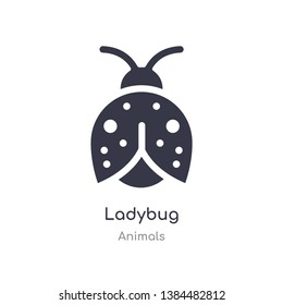 ladybug icon. isolated ladybug icon vector illustration from animals collection. editable sing symbol can be use for web site and mobile app
