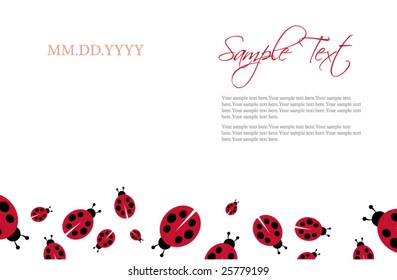 invitation ladybug template images stock photos vectors