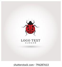 unique ladybug logo template stock vector royalty free 655625539