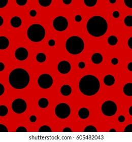 Ladybug pattern. Seamless vector.