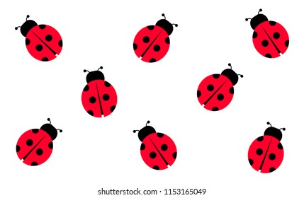 Ladybugs, Vector Illustration, Background