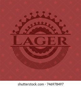 Lager retro red emblem