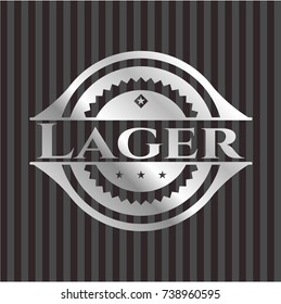 Lager silver shiny badge