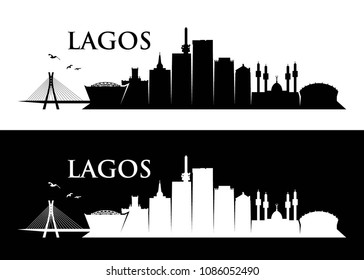 Lagos skyline - Nigeria - vector illustration