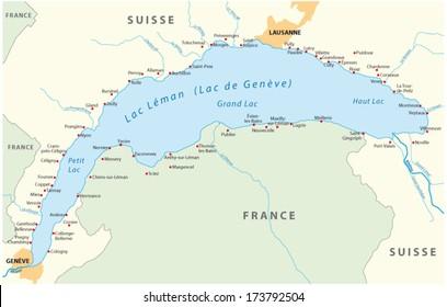 Map Of France Near Geneva.Images Photos Et Images Vectorielles De Stock De Lac Leman