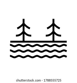 lake icon or logo isolated sign symbol vector illustration - high quality black style vector icons