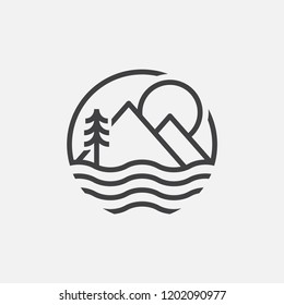 lake logo design inspiration. lake life