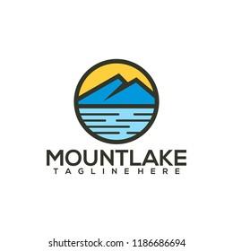 Lake Logo Design Vector