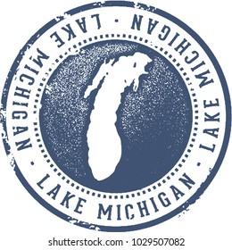 Lake Michigan Great Lakes Stamp
