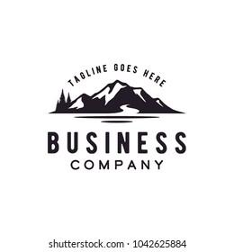 Lake and Mountain logo design inspiration
