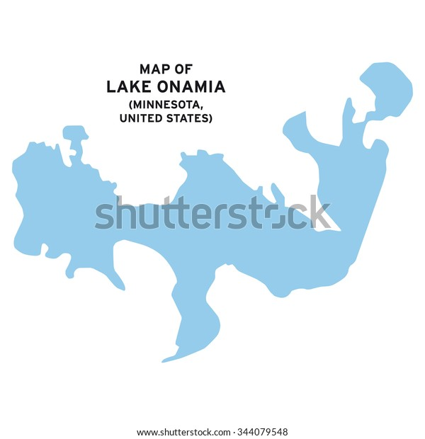 Lake Onamia Minnesotaunited States Map Vector Stock ...