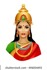 Lakshmi. Hindu goddess of wealth, love, and prosperity.