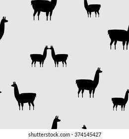 lama seamless pattern. vector illustration