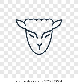 Lamb of God concept vector linear icon isolated on transparent background, Lamb of God concept transparency concept in outline style