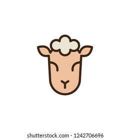 Lamb of God filled outline icon, line vector sign, linear colorful pictogram isolated on white. Jewish sheep symbol, logo illustration. Pixel perfect vector graphics