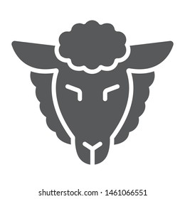 Lamb of god glyph icon, jewish and animal, sheep sign, vector graphics, a solid pattern on a white background, eps 10.