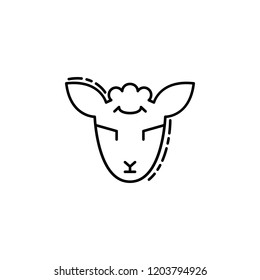 Lamb of God icon. Element of Jewish icon for mobile concept and web apps. Thin line Lamb of God icon can be used for web and mobile