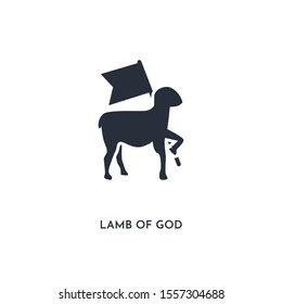 lamb of god icon. simple element illustration. isolated trendy filled lamb of god icon on white background. can be used for web, mobile, ui.