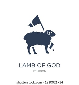 Lamb of God icon. Trendy flat vector Lamb of God icon on white background from Religion collection, vector illustration can be use for web and mobile, eps10