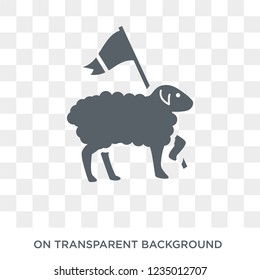 Lamb of God icon. Trendy flat vector Lamb of God icon on transparent background from Religion  collection.