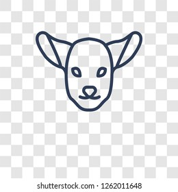 Lamb of God icon. Trendy Lamb of God logo concept on transparent background from Religion-2 collection