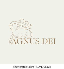 Lamb of God illustration, Agnus Dei.