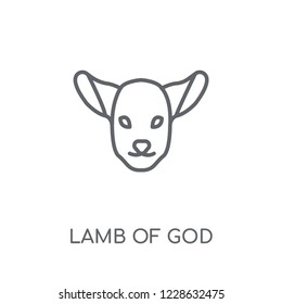 Lamb of God linear icon. Modern outline Lamb of God logo concept on white background from Religion-2 collection. Suitable for use on web apps, mobile apps and print media.