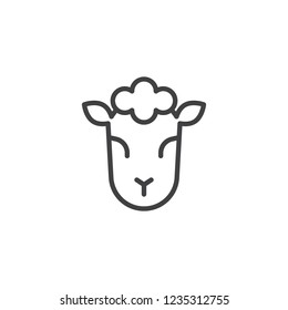 Lamb of God outline icon. linear style sign for mobile concept and web design. Jewish sheep simple line vector icon. Symbol, logo illustration. Pixel perfect vector graphics