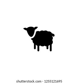lamb icon vector. lamb vector graphic illustration