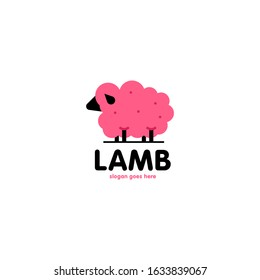 Lamb Logo Design Vector Template