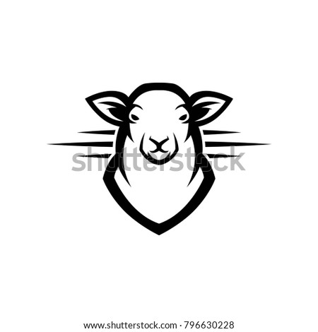 Lamb Logo Mascot Template Design Stock Vector (Royalty Free ...
