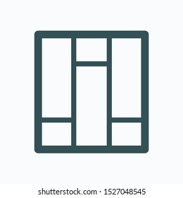 Laminate isolated icon, parquet linear linear vector icon