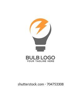 Lamp Bulb Logo Icon Set Vector Template