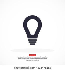 Lamp bulb vector flat  .