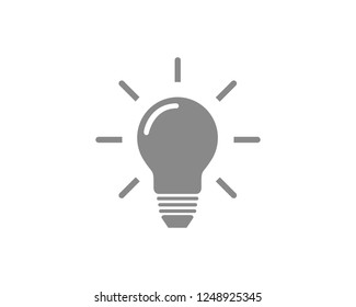 Lamp bulb vector icon isolated . symbol for web site Computer and mobile vector.