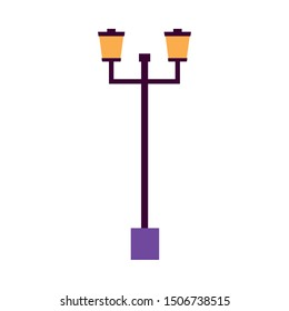 Lamp design, Home park object light electric power bulb and bright theme Vector illustration