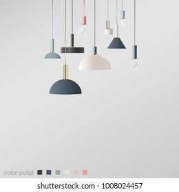 Lamp design. Modern ideas for your hose. Interior decision.