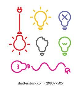 Lamp flat design, vector
