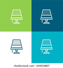 Lamp green and blue material color minimal icon or logo design