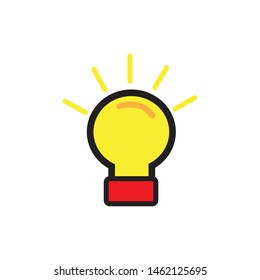 lamp icon illustration. a sign of getting an idea. suitable for the web. creative design