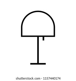 Lamp icon. Lampshade icon. Lamp, lampshade light vector isolated  icon.