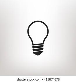 Lamp icon vector
