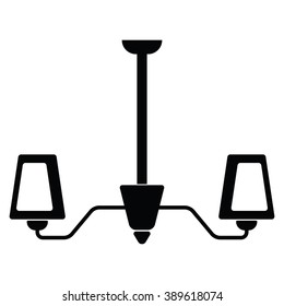 Lamp icon Vector Illustration on the white background.