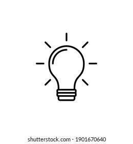 Lamp icon vector. Light bulb icon vector. idea symbol.