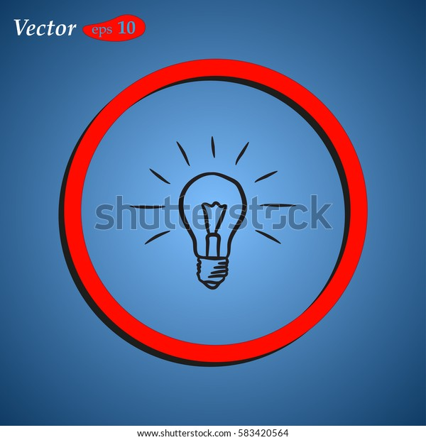 Lamp icon vector. web design style