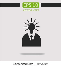 lamp. idea. vector icon. icon vector.business
